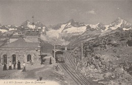 ZERMATT  GARE  DU GORNERGRAT   TRAIN. - VS Valais