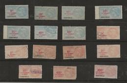 FISCAUX  FRANCE  TAXE DE LUXE 15 Timbres Differents NEUFS Et OBLITERES - Revenue Stamps