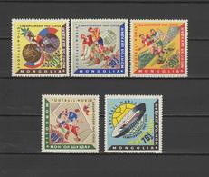 Mongolia 1962 Football Soccer World Cup Set Of 5 MNH - Fußball-Weltmeisterschaft