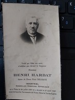 THIEU+INDUSTRIEL CONSEILLER COMMUNAL CATHOLIQUE HENRI HARDAT 25/07/1887 - Devotion Images