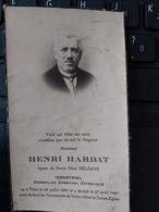 THIEU+INDUSTRIEL CONSEILLER COMMUNAL CATHOLIQUE HENRI HARDAT 25/07/1887 - Devotieprenten
