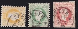 1867 3 X STEYR Gestempelt Müller - Nr: 3464 / Punkte : 3x8 - Gebraucht