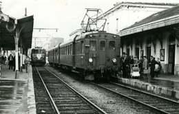 190120 - PHOTO BREHERET TRANSPORT TRAIN CHEMIN DE FER 1955 - 73 Direction AIX LES BAINS Voyageur Landau - Frankreich