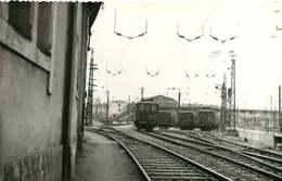190120 - PHOTO BREHERET TRANSPORT TRAIN CHEMIN DE FER 1956 - 33 BORDEAUX Le Dépôt Loco - Bordeaux