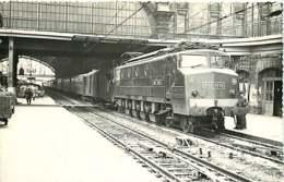 190120 - PHOTO BREHERET TRANSPORT TRAIN CHEMIN DE FER Circa 1950 - 33 BORDEAUX SAINT JEAN 2D2-5550 SNCF - Bordeaux