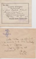 Polski Bank Handlowy, 1922. Pologne. - Documents Historiques
