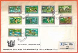 NIUE LETTRE FDC RECOMMANDEE DE 1978 DE ALOFI - Niue