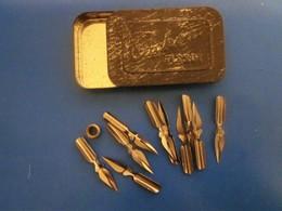Vintage-Boite De Plumes -Boîtes NIBS Box Of Feathers-Boxes- For Ink Pen Holder--pour Porte Plume A Encre - Plumes