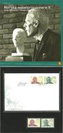 Norway 2004 Norwegian Laureates II - Nobel Prize, Odd Hassel, Christian Lange Mi 1518-1519  MNH And FDC In Folder - Norwegen