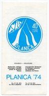 1974 YUGOSLAVIA,SLOVENIA,PLANICA 74,SKI JUMPING,INTERNATIONAL COMPETITION,INVITATION,JUMP SCHEDULE,AUTOGRAPHS - Winter Sports