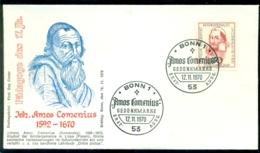 Bundesrepublik Deutschland 1970 FDC Amos Comenius - FDC: Enveloppes