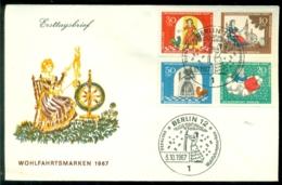 Bundesrepublik Deutschland Berlin 1967 FDC Märchen Der Brüder Grimm - [5] Berlín