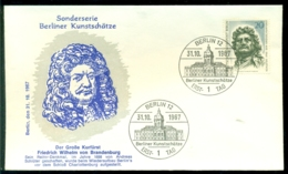 Bundesrepublik Deutschland Berlin 1967 FDC (31-10) Friedrich Wilhelm Von Brandenburg Berliner Kunstschätze - [5] Berlín