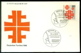 Bundesrepublik Deutschland Berlin 1968 FDC Deutsches Turnfest - [5] Berlín