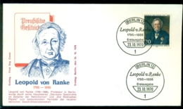 Bundesrepublik Deutschland Berlin 1970 FDC Leopold Von Ranke - [5] Berlín