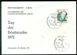 Bundesrepublik Deutschland Berlin 1972 FDC Tag Der Briefmarke - [5] Berlín
