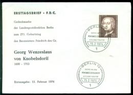 Bundesrepublik Deutschland Berlin 1974 FDC Georg Wenzeslaus - [5] Berlín