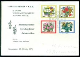Bundesrepublik Deutschland Berlin 1974 FDC Blumensträuße - [5] Berlín