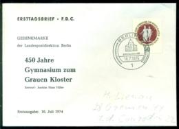 Bundesrepublik Deutschland Berlin 1974 FDC 450 Jahre Gymnasium Zum Grauen Kloster - [5] Berlín