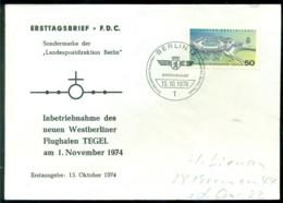 Bundesrepublik Deutschland Berlin 1974 FDC Inbetriebnahme Flughafen Tegel - [5] Berlín