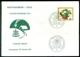 Bundesrepublik Deutschland Berlin 1974 FDC Weihnachten - [5] Berlín