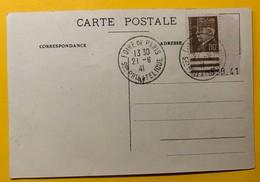 9903 - Carte Foire De Paris Cachet Salon Philatélique 21.6.1941 - France