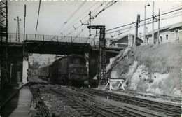 190120 - PHOTO BREHERET TRANSPORT TRAIN CHEMIN DE FER 1954 - 33 Près De BORDEAUX SAINT JEAN - Bordeaux