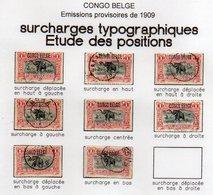 CONGO - COB 46 - 1F Typo -étude Study Positions Surcharge - Obl - COB 63 Euros - KX6 - Belgian Congo