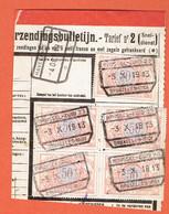 190 Pa - Fragment Bloc De 4 + 1 Brussel-Zuid 1913 Sur 35 Vers Havelange - Chemins De Fer