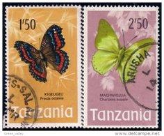 866 Tanzania Butterfly Papillon 1'50 2'50 (TZN-35) - Tansania (1964-...)