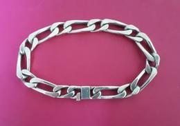 Bracelet, Gourmette Homme En Argent Massif 925/1000: 24 Cm - Minerve - Bracelets