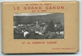 LOT DE 20 PETITES PHOTOS VERITABLES 6 X 9 / GORGES DU VERDON / LE GRAND CANON PAR LE FOND ET LA CORNICHE SUBLIME - Luoghi