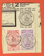 190 Pa - Fragment - Stabroeck 1927 Sur 136-144-150 - 1923-1941