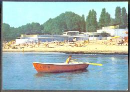 BULGARIA SOFIA BURGAS LENTRALE ZENTRALE BADESTRAND BEACH BOAT SEA PEOPLE SKY - Bulgarije