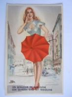 Un Bonjour De Wenduine Een Goeden Dag Uit Wenduine Vrouw Met Paraplu Illustr. J.B. Edit M.D. Paris - Wenduine