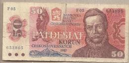 Cecoslovacchia - Banconota Circolata Da 50 Corone P-96a - 1987#18 - Cecoslovacchia