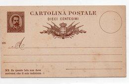 CARTOLINA POSTALE - UMBERTO I - 1879 NON VIAGGIATA - MILL. 86- Da Catalogo C5 - Ansichtskarten