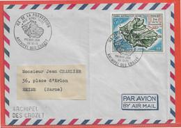 TERRES AUSTRALES LETTRE DE 1970 DES CROZET (PLIE) - Brieven En Documenten