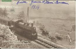 Chemin De Fer YVERDON - SAINTE CROIX Aux Rapilles De Baulmes , Carte Photo ( Avec Train ) , 1914 , µ - VD Vaud