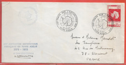 TERRES AUSTRALES LETTRE DE 1971 DE TERRE ADELIE - Covers & Documents