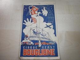 Ancien Programme CIRQUE GEANT BOUGLIONE 1950 - Programme