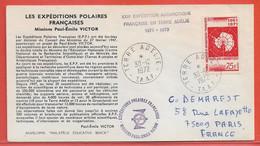TERRES AUSTRALES LETTRE DE 1972 DE TERRE ADELIE - Briefe U. Dokumente