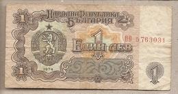 Bulgaria - Banconota Circolata Da 1 Leva P-93b - 1974 #18 - Bulgaria