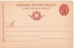 CARTOLINA POSTALE - EFFIGE OVALE - 1895 NON VIAGGIATA - MILL. 901 - Da Catalogo C25 - Ansichtskarten
