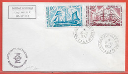 TERRES AUSTRALES LETTRE DE 1974 DE TERRE ADELIE - French Southern And Antarctic Territories (TAAF)