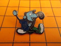 0220 Pin's Pins / Beau Et Rare  / THEME ANIMAUX / SINGE BLEU CHIMPANZE - Animaux