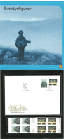Norway 2003 Figures From Fairytales, Troll And Nøkken   Mi 1463-1464 MNH Bloc Of Four And FDC Single In Folder - Norwegen