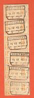 190 Pa - Bande De 6 Meulebeke 1933 Sur CF 142 - Ferrocarril