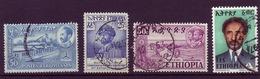 ETHIOPIA 1947/1973 LOT OF 4 USED STAMPS - Ethiopia