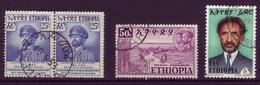 ETHIOPIA 1952/1973 LOT OF 4 USED STAMPS - Ethiopia